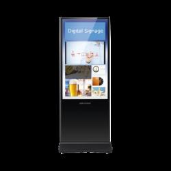"""Pantalla de 55"""" para Publicidad Digital / Base para Piso / Entrada de Video HDMI y VGA / 2 Entradas USB / Altavoz Integrada"""