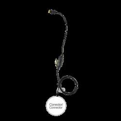 Micrófono de 1 cable serie LOC para Motorola TETRA Series MTH650/ 700/ 800/ 850, MTP850