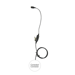 Micrófono de 1 cable serie LOC para KENWOOD NX-200/300/5200/5300, TK-480/2180/3180