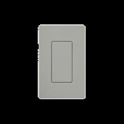 Tapa ciega color gris.