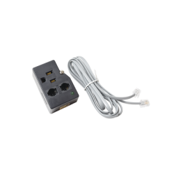 Protector para enchufe con salida única, circuito de 110 V/15 A, tornillo de retención, Telco RJ11 entrada/salida