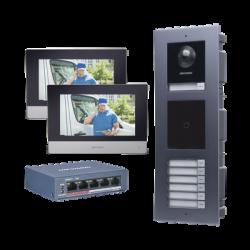 KIT de Videoportero IP para 7 DEPARTAMENTOS con llamada a App de Smartphone y Lector de Tarjetas EM / 2da Generación (Modular)