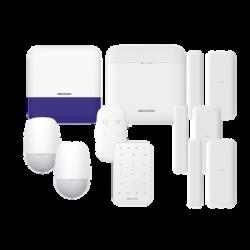 (AX PRO) KIT de Alarma AXP RO / Incluye: 1 Hub / 2 Sensores PIR / 3 Contactos Magnéticos mini / 1 Control Remoto / 1 Sirena Ina