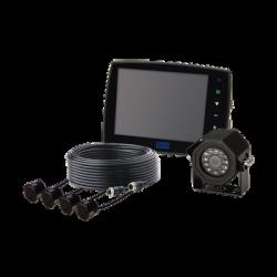 """Sistema alámbrico de cámara y monitor de 5.6"""" con sensores de reversa"""