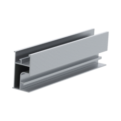 Riel 3 para montaje de módulos fotovoltaicos de aluminio anodizado 2200mm.