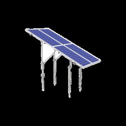 KIT (2X2) Montaje en tierra con tornillo para 4 módulos fotovoltáicos