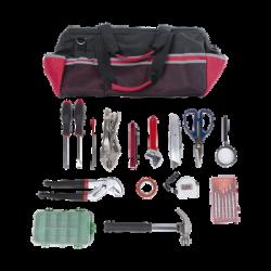 Kit de herramientas de reparación con 15 piezas, incluye maleta de herramientas.