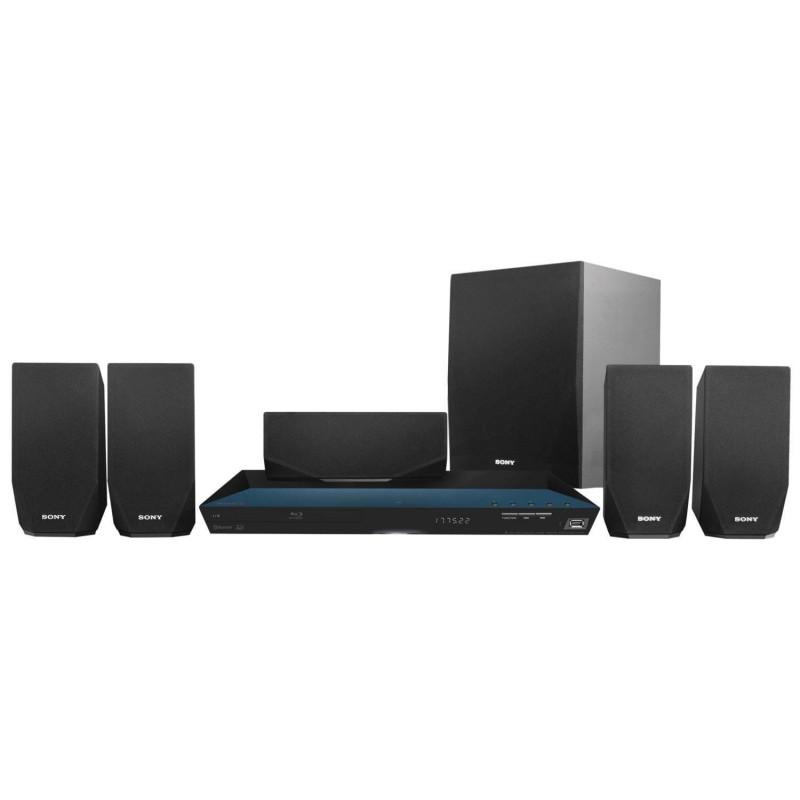 Home Theatre Sony Negro Blu-ray Disc HD 3D 1000W de potencia Bluetooth One-Touch Modo football