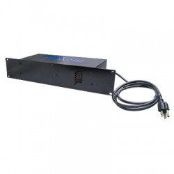 """Fuente de poder para CCTV de 16 salidas con montaje en rack 19"""", 12 Vcd/24 Vca, 8 A, con extracción de aire"""
