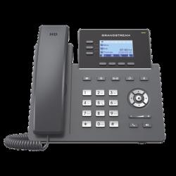 Teléfono IP Grado Operador, 3 líneas SIP con 6 cuentas, puertos Gigabit PoE, codec Opus, IPV4/IPV6 con gestión en la nube GDM