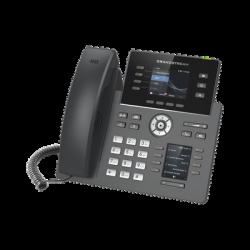 """Teléfono IP Wi-Fi, Grado Operador, 4 líneas SIP con 4 cuentas, pantalla a color 2.8"""", puertos Gigabit, Bluetooth, PoE, codec O"""