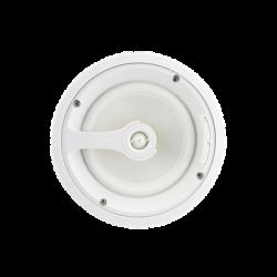 Ghost Series Altavoz de techo de 2 vías, woofer de polipropileno blanco de 8 in, tweeter de 1in, 5 - 125 watts, 8 Ohms