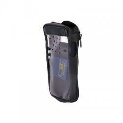 Funda reforzada de piel, cierre lateral y visor frontal plástico. Aéreos IC-A14/21, IC-A14S/01 e IC-A14/25.