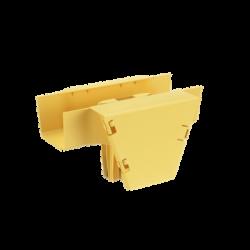 Accesorio en T con Conexión Horizontal y Bajada Vertical a 90º, Para Canaletas FiberRunner™ 4x4, Color Amarillo