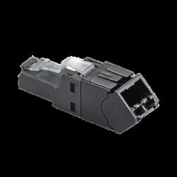 Plug RJ45 UTP, Instalación Angulada 45 Grados, Terminación en Campo Certificable, Compatible con Cat5e, Cat6 y Cat6A, Color Ne