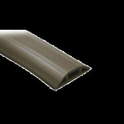 Canaleta flexible color cafe de PVC auto extinguible tramo de 2.5m