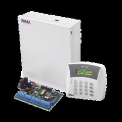 Panel de alarma Hibrido de 8 a 32 zonas soporta receptor inalámbrico y módulos de expansión cableados y cuadruple comunicador