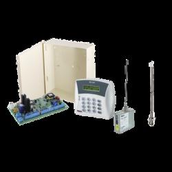 Kit de panel de Alarma 8-16Zonas y comunicador Radio UHF 470-510MHz. Incluye teclado Programador y Gabinete