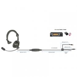 Diadema ligera acolchonada para radios móviles Motorola APX4500, XLT1500