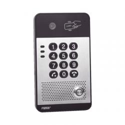Vídeo Portero IP con 2 líneas SIP, cámara HD, relevador integrado, teclado numérico y lectora de tarjetas RFID para control