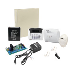 Kit de Alarma Hunter8 Inalámbrico, incluye Panel de Alarma, Teclado, Receptor Inalámbrico, 2 Contactos Magnéticos Inalámbri