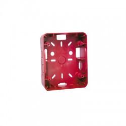 Caja para Montaje de Sirena/Estrobo, Color rojo