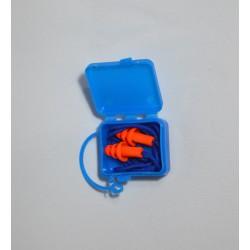 Protector Auditivo Siliconado Naranja/Azul Armadura A2058