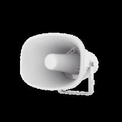 Altavoz tipo trompeta, Blanco, Fabricado en ABS