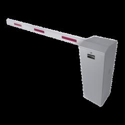 Kit de Barrera Vehícular Izquierda Color Gris y Brazo Ajustable de 3.6 a 5.5 m