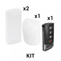 KIT Básico Sensores Inalámbricos - Incluye 2 Contactos Magnéticos, 1 PIR y 1 Llavero - Compatibles con Honeywell y PRO4GLTEM