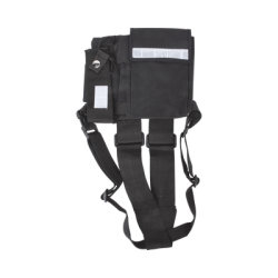 Pechera Universal sin logo con soporte para radio y bolígrafo más bolsa con cinta adherente para su seguridad.