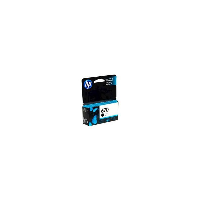 CARTUCHO HP NEGRO  670 HP Deskjet Ink Advantage 3525 4615 4625 5525 250 PAG