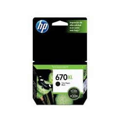 CARTUCHO HP NEGRO  670XL HP Deskjet Ink Advantage 3525 4615 4625 5525 550 PAG