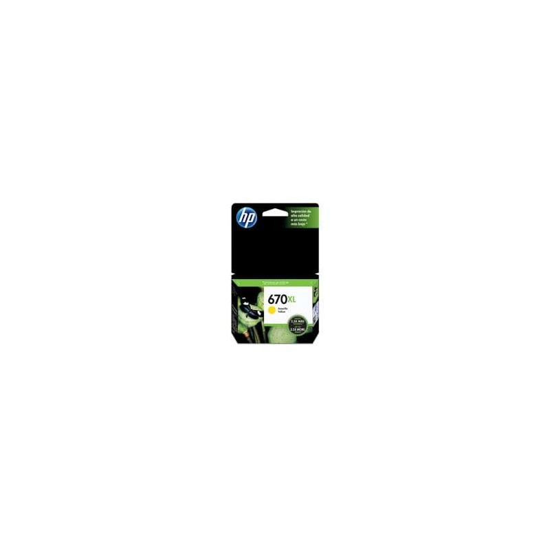 CARTUCHO HP YELLOW 670XL HP Deskjet Ink Advantage 3525 4615 4625 5525 750 PAG