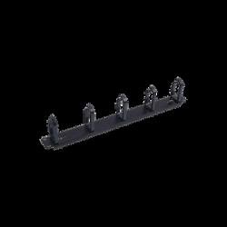 """Organizador de cables con 5 anillos, 1U, 19"""" Color negro"""