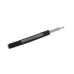 Metro de Cable Coaxial RG-58 LMR-195, Baja Pérdida de 50 Ohms, Conductor de Cobre Sólido