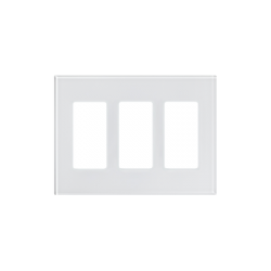 Tapa de cristal para apagador o atenuador, 3 espacio.