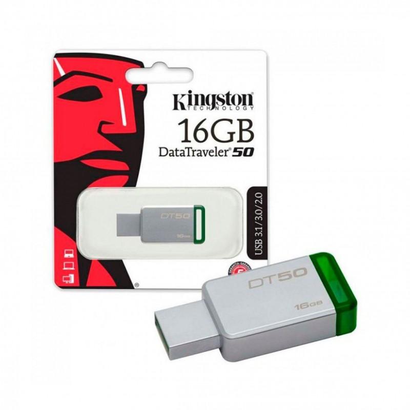 Memoria 16GB USB 3.0 DataTraveler 50 (Metal/Green)