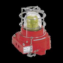 Luz de advertencia LED, a prueba de explosión, 110-240 Vca, ATEX, IECEX, ambar