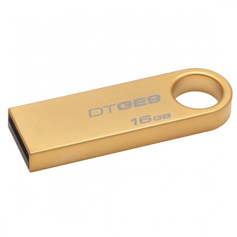 MEMORIA USB DTGE9/8GBZ CAPACIDAD 8GB BAÑADA EN ORO