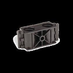 Sujetador de doble click para cable coaxial de 1/2 paquete de 10 piezas.