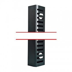 Kit organizador vertical de cable sencillo para rack abierto de 37 unidades