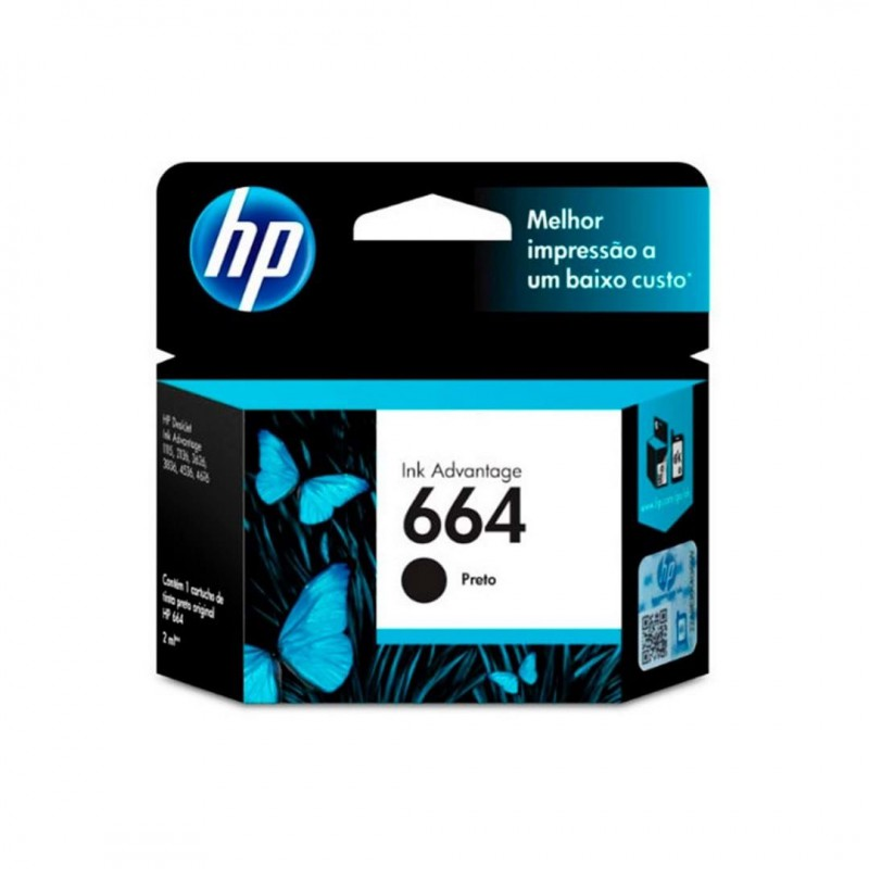 CARTUCHO HP NEGRO 664 HP DESKJET INK ADVANTAGE 1115