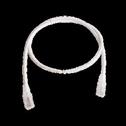 Patch Cord MC6 Modular Cat6 UTP, CM/LS0H, 3ft, Color Blanco, Versión Bulk (Sin Empaque Individual)