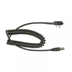 Cable resistente al fuego (UL-914), para auricular HDS-EMB con atenuación de ruido para radios Icom IC-2000/3003/3013/3021/3103