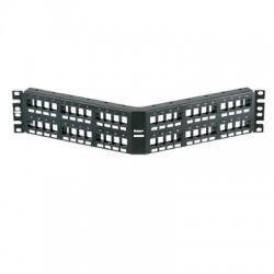 Panel de Parcheo Modular Keystone (Sin Conectores), Angulado, de 48 Puertos, 2UR
