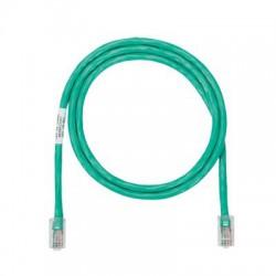 Cable de parcheo UTP Categoría 5e, con plug modular en cada extremo - 1.5 m. - Verde