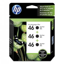 CARTUCHO HP NEGRO 46 3-PACK HP DESKJET ULTRA INK ADVANTAGE 2529