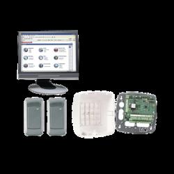 Kit de Control de Acceso con Controlador NETAXS(Interfaz WEB para 2 Puertas) / 2 Lectoras