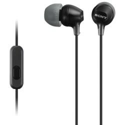 Audífonos Sony internos MDR-EX15AP Color Negro de silicona de ajuste seguro. (con micrófono)